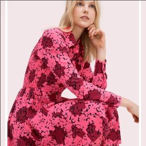 Kate Spade Bubble Dot Smocked Dress Rhubarb Jam